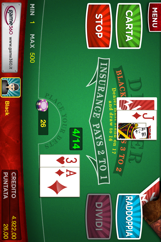 Screenshot BlackJack Game360